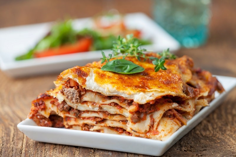 reheating frozen lasagna