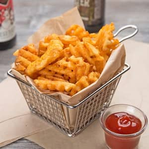 how to make waffle fries with a waffle iron